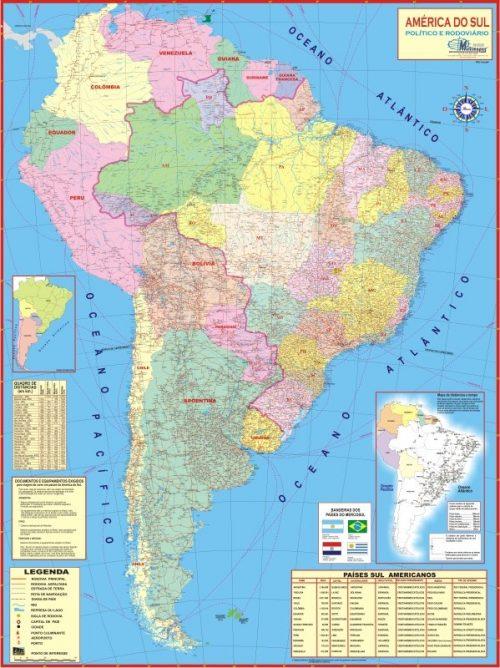 Mapa Da America Do Sul Paises Da America Do Sul E Suas Capitais