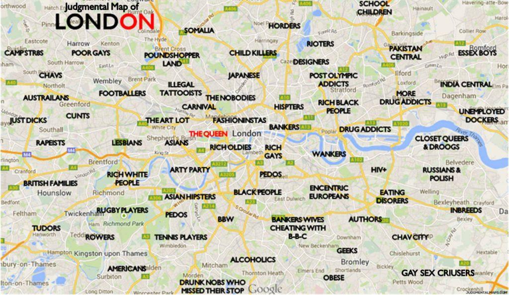 Mapa De Londres E Seus Principais Bairros Boroughs