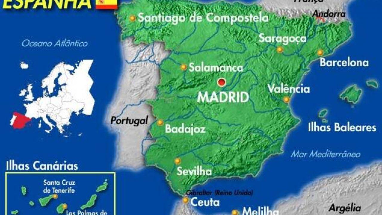 Mapa Da Espanha Com Cidades Conheca As Regioes Da Espanha