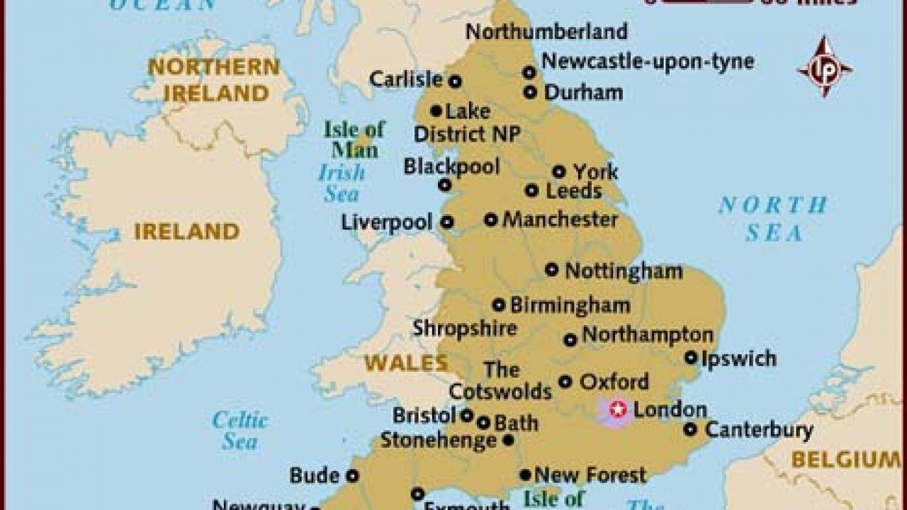 Mapa Da Inglaterra Conheca As Regioes Da Inglaterra