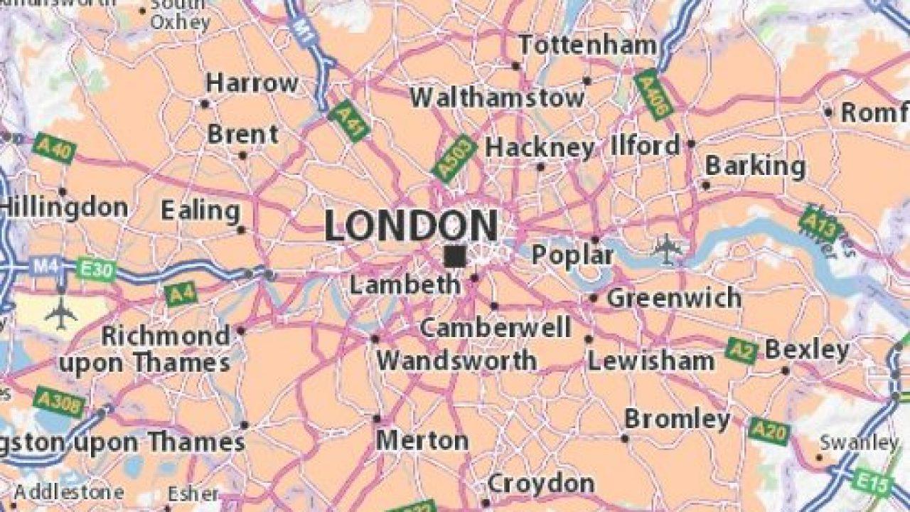 Londres En El Mapa.Mapa De Londres E Seus Principais Bairros Boroughs